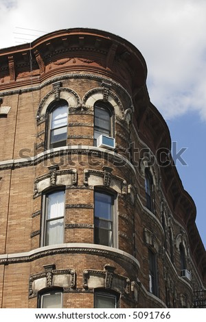 Brownstone Corner - stock photo
