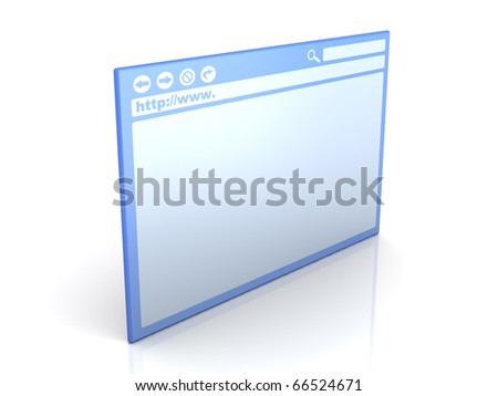 Browser Window - stock photo