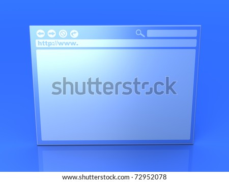 Browser window. 3D rendered Illustration. - stock photo