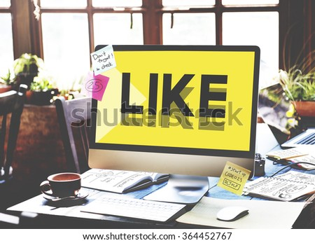 Browsing Network Internet Like Social Media Concept - stock photo