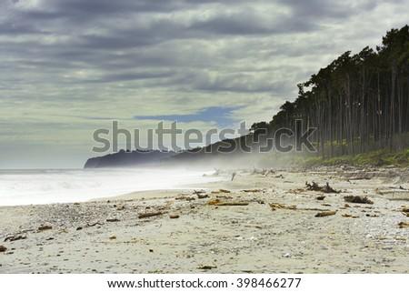 Bruce Bay, New Zealand - stock photo