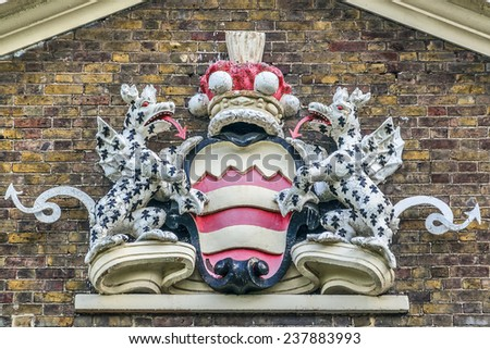 Bruce Castle (formerly Lordship House) is a 16th-century manor house in Lordship Lane - one of the oldest surviving English brick houses. Tottenham, London, UK. - stock photo