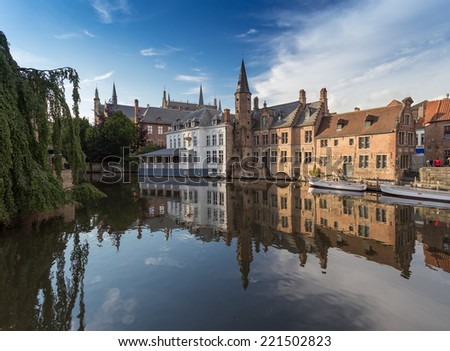 Bruge : small town in Belgium - stock photo
