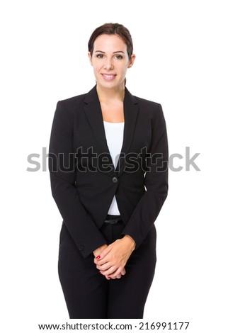 Brunette businesswoman - stock photo