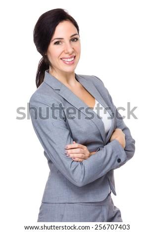 Brunette Businesswoman portrait - stock photo