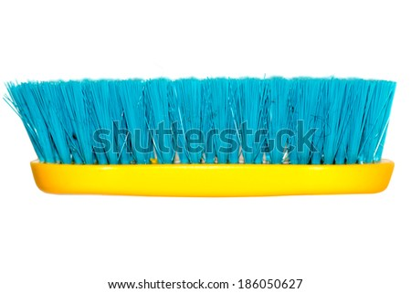 Brush clothing macro - stock photo