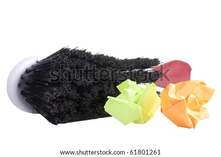 Brush for dust cleaning on a white background. - stock photo