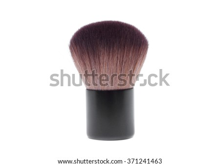 Brush for facial decoration - stock photo