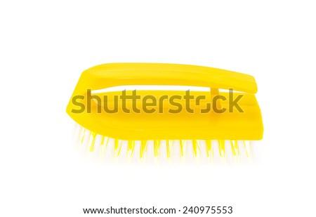 Brush for washing on white background - stock photo