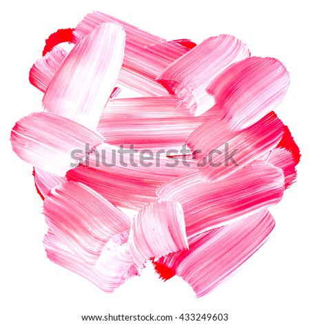 Brush stroke. Acrylic paint stain. Turquise stroke of the paint brush isolated on white - stock photo