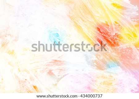 brush stroke on color background - copy space for text - stock photo