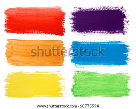 Brush strokes banners - stock photo