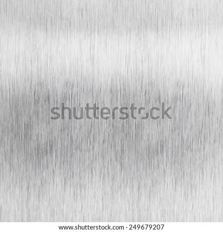 Brushed aluminum metal plate - stock photo