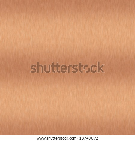 Brushed Copper Background which will tile seamlessly - stock photo