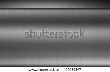 Brushed dark metal texture background, metallic design element - stock photo