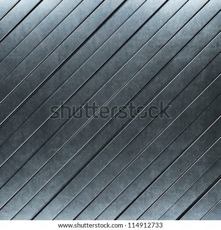 brushed metal background with stripes - stock photo