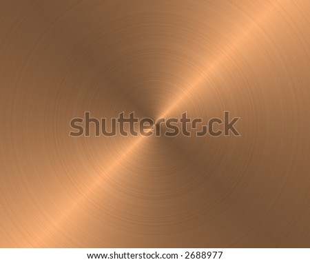 brushed metal texture background copper circular - stock photo