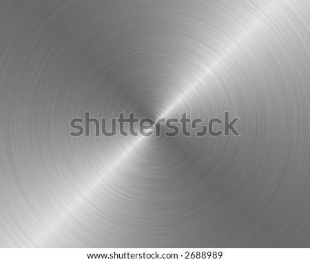 brushed metal texture background steel rough circular - stock photo
