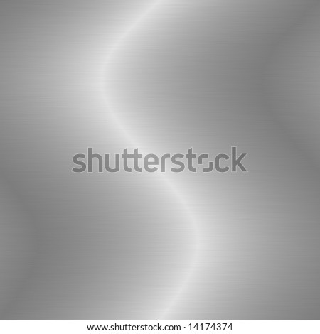 Brushed silver metal background - stock photo