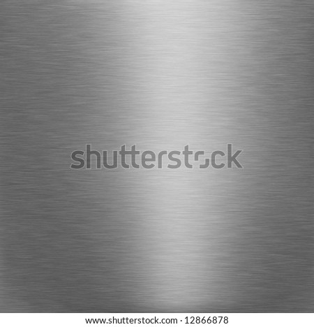 brushed silver metallic background with broad highlight - stock photo