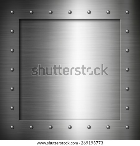 Brushed Steel frame background texture wallpaper - stock photo