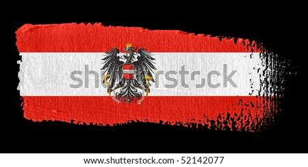Brushstroke Flag Austria - stock photo