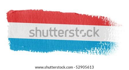 Brushstroke Flag Luxembourg - stock photo