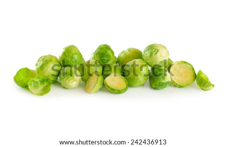 Brussel Sprout isolated on white background - stock photo