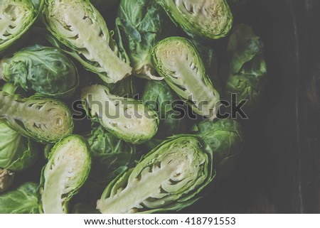 brussel sprouts - stock photo