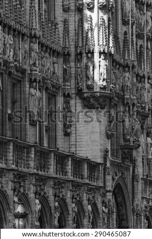 Brussels, architectural detail - stock photo