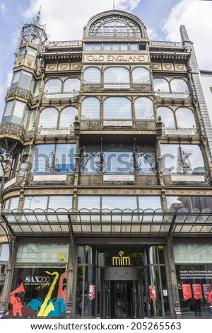 BRUSSELS, BELGIUM - JUNE 19, 2014: The Musical Instrument Museum, located in the former Old England department store on the Coudenberg street. - stock photo
