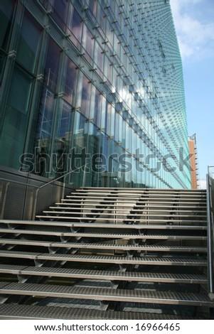 Brussels, Belgium: modern buildings, shapes lines - stock photo