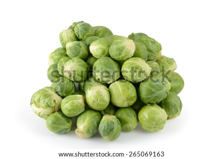 brussels sprout white background - stock photo