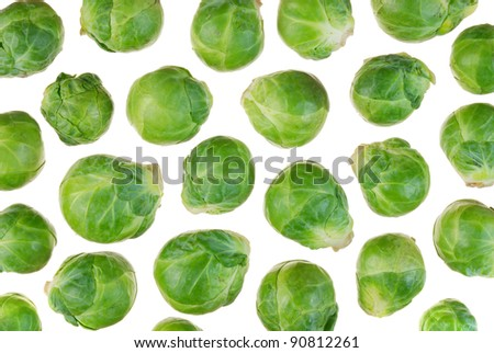 brussels sprouts, a cruciferous vegetable - stock photo