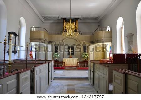 Bruton Parish Episcopal Church of British Colony, Williamsburg, Virginia, USA. - stock photo