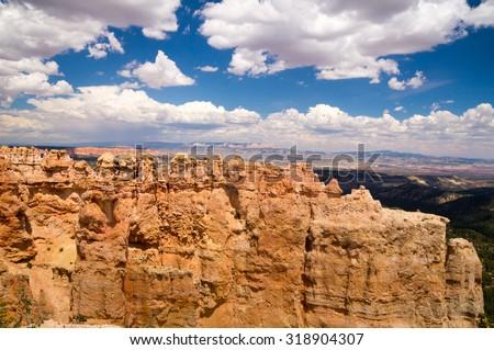 Bryce Canyon National Park grand vista - stock photo