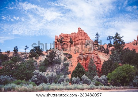 Bryce canyon national park in USA - stock photo