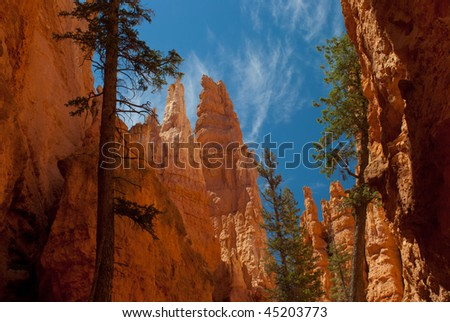 Bryce Canyon rock formations - stock photo
