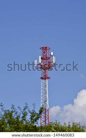 BTS telecommunications relay - stock photo
