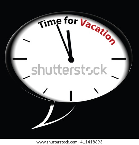 Bubble clock Time for Vacation - stock photo