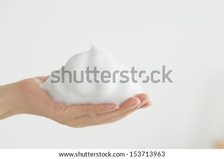 Bubble of the palm - stock photo