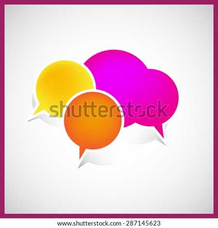 Bubble sign icon - stock photo
