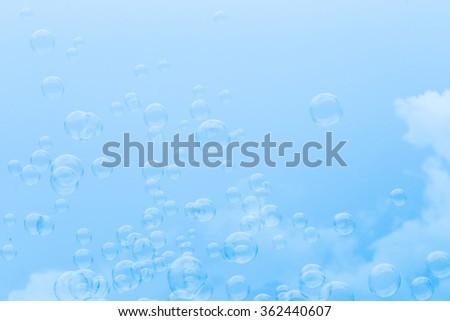 Bubbles background. - stock photo