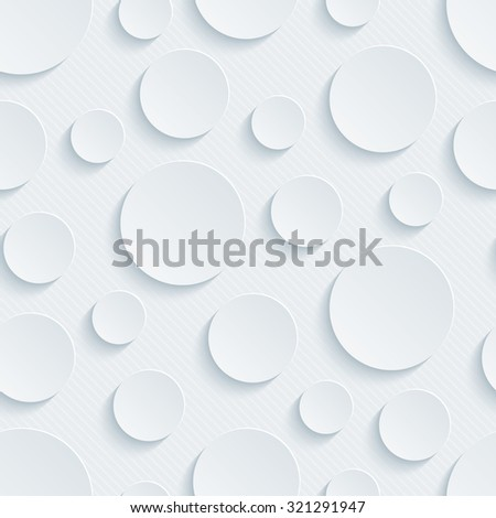 Bubbles 3d seamless background. Light perforated paper pattern with cut out effect.  - stock photo