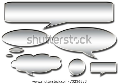 bubbles for speech - stock photo