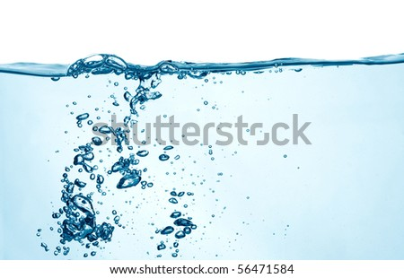 Bubbles in a water - stock photo