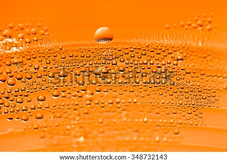 Bubbles in sparkling water as abstract background - Selective focus - stock photo