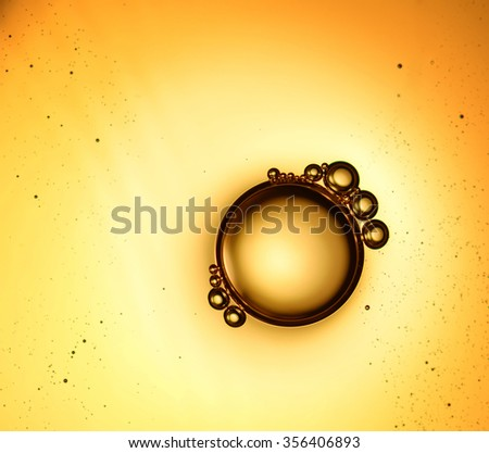 bubbles on the water surface - stock photo