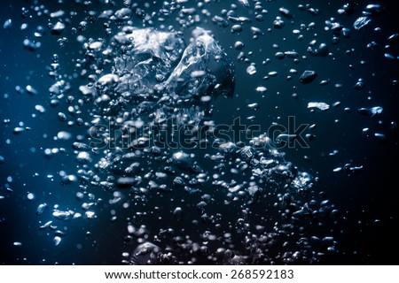 BUBBLING WATER - stock photo