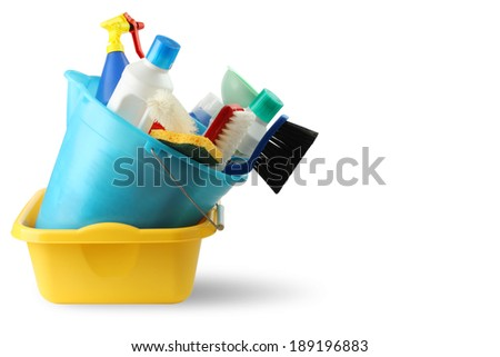 Bucket and cleaning 3 - stock photo